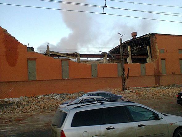 Челябинский цинковый завод после падения метеорита